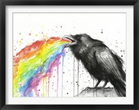 Framed Raven Tastes the Rainbow
