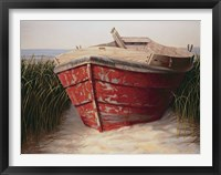 Framed Red Boat