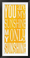 Framed You Are My Sunshine