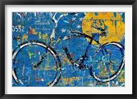 Framed Blue Graffiti Bike