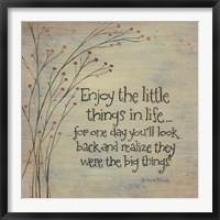 Framed Enjoy the Little Things