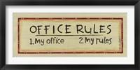 Framed Office Rules