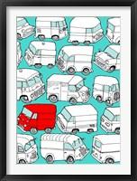 Framed Odd Ones - Red Van