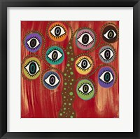 Framed Evil Eye Tree I
