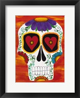 Framed Fire Sugar Skull