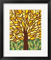 Framed Tree of Life - Yellow