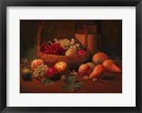 Framed Fruit Basket Still LIfe