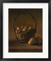 Framed Basket With Pears