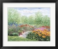 Framed Impressionistic Garden