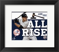 "Framed Aaron Judge """"All Rise"""""