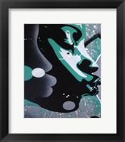 Framed Kiss White Green