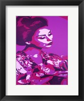 Framed Purple Geisha