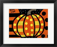 Framed Halloween Pumpkin