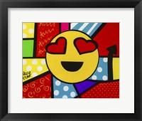 Framed Emoji Smiley Face