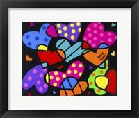 Framed Pile Of Hearts