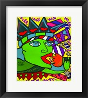 Framed Statue of Liberty Flame Eater