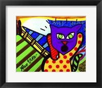 Framed Scream Cat