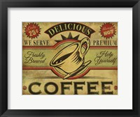 Framed Coffee Sign