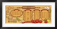 Framed Kitchen Reference Board