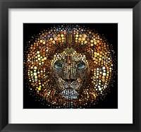 Framed Paint Dawb Lion