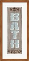 Framed Bath Sign 1