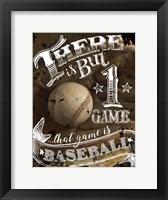 Framed That Game is Baseball