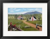 Framed Baker's Mtn. and Cardinals