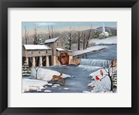 Framed Pigeon Forge In The Winter