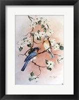 Framed Bluebirds and Dogwood