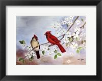 Framed Cardinals and Dogwood