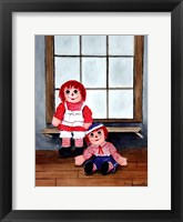 Framed Raggedy Ann and Andy