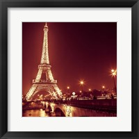 Framed Eiffel at Night