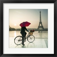 Framed Bike & Red Umbrella