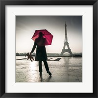 Framed Under the Red Umbrella