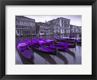 Framed Purple Gondolas 1