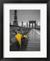 Framed Yellow Umbrella