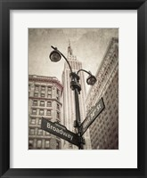 Framed Broadway Intersection