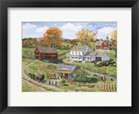Framed Scarecrow Farm Stand