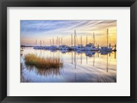 Framed Boats At Calm