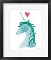 Framed Unicorn Magic II Heart