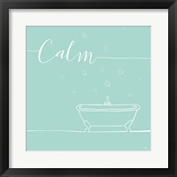 Framed Underline Bath VI Teal