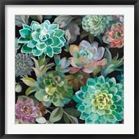 Framed Floral Succulents v2 Crop