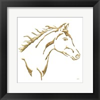 Framed Gilded Filly on White