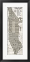 Framed New York Parks Map Vertical