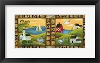 Framed Home Sweet Home Country Folk Art