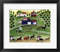 Framed American Apple Farm