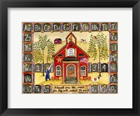 Framed Little Red School House