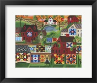 Framed Mama's Colorful Quilts