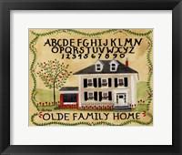 Framed Old Family Home
