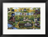 Framed Pigasso Folk Art Farm